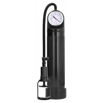 Черная вакуумная помпа с манометром Comfort Pump With Advanced PSI Gaug