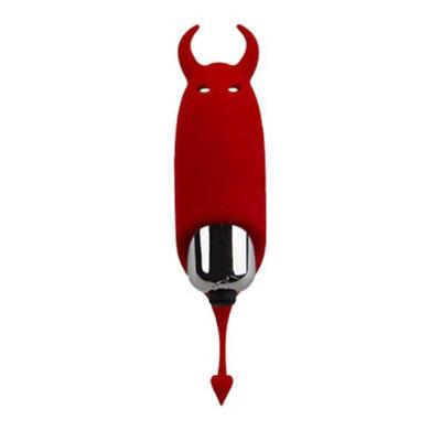 Красный вибростимулятор Devol Mini Vibrator - 8,5 см.