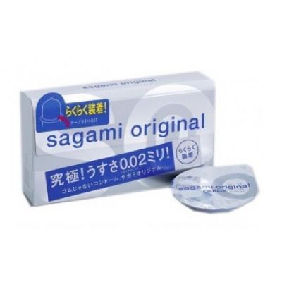 Ультратонкие презервативы Sagami Original 0.02 Quick - 6 шт.