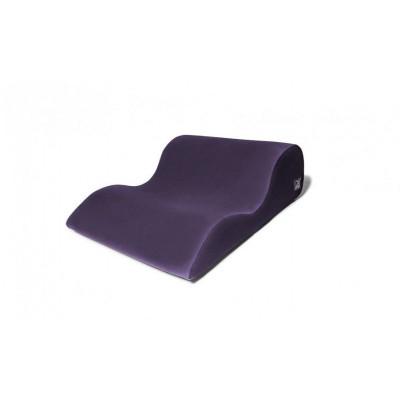 Фиолетовая большая подушка для любви Liberator Hipster с чехлом из вельвета