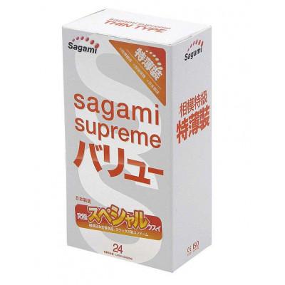 Ультратонкие презервативы Sagami Xtreme Superthin - 24 шт.